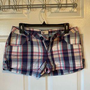 SO Plaid shorts